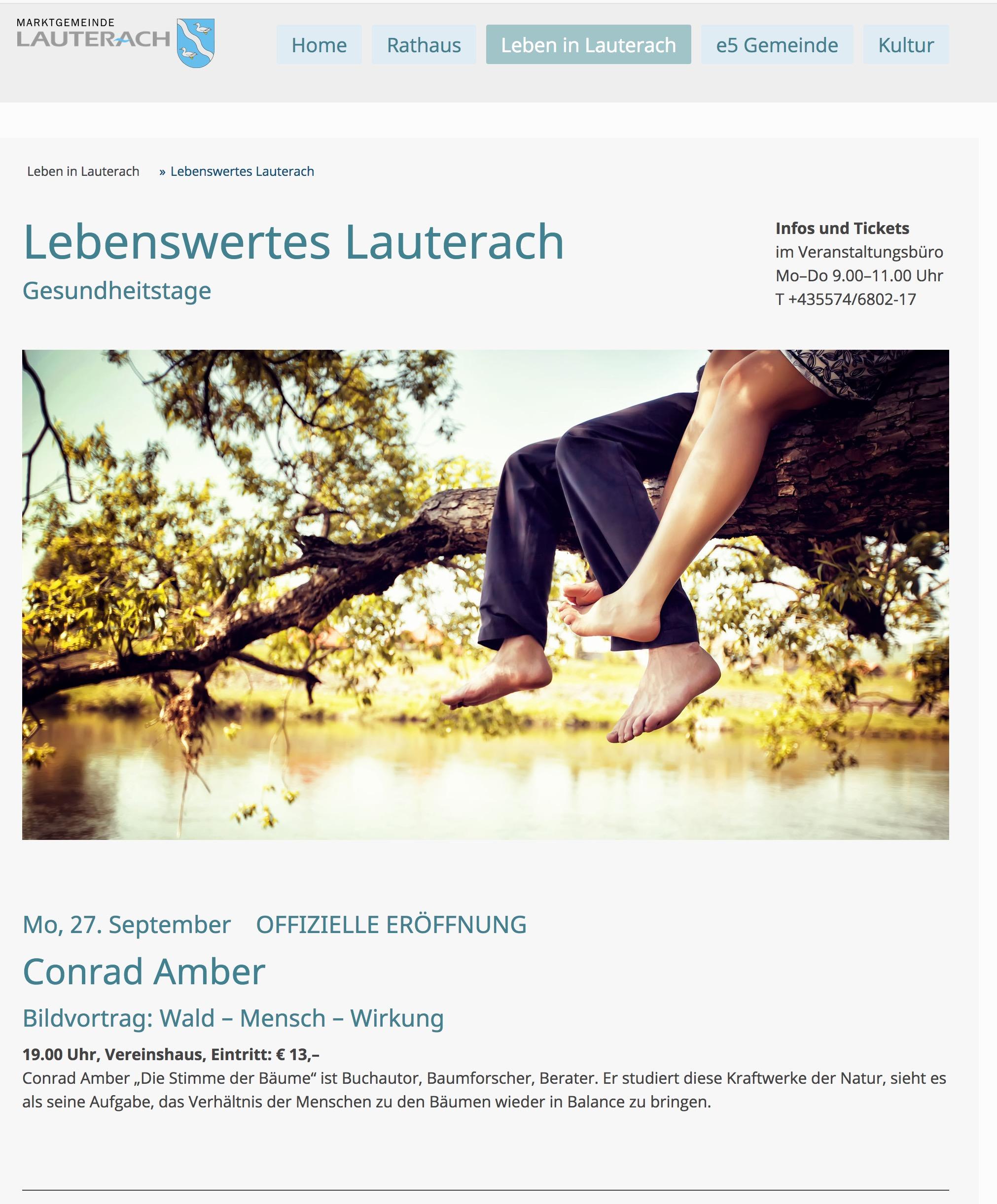 Bildvortrag Wald-Mensch-Wirkung in Lauterach, 27.9.2021